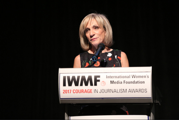 Andrea Mitchell from NBC and MSNBC accepts Lifetime Achievement Award in Washington D.C.